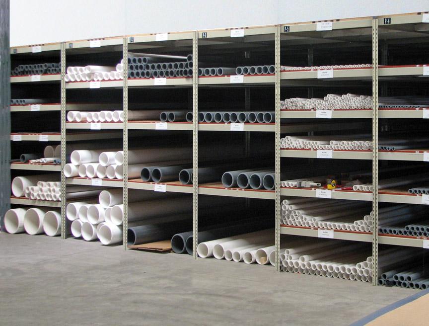 Rivetrite boltless steel shelving penco products for Architectural plan racks